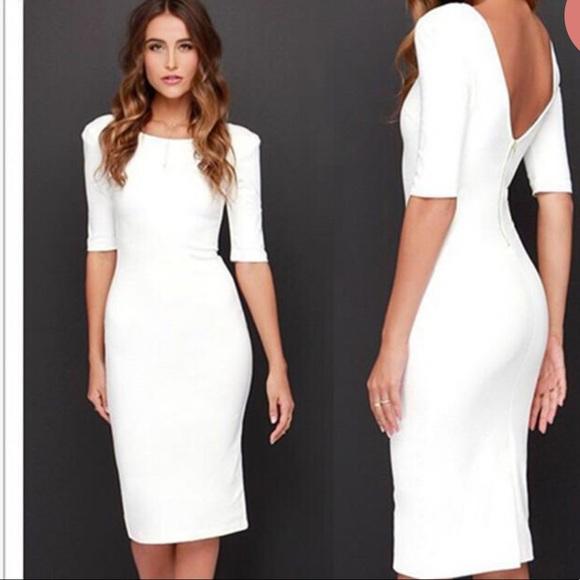 450c16e9c81e0 Lulu's Dresses | Lulus We Built This Midi Ivory Midi Dress | Poshmark